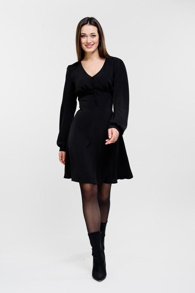 Женское черное короткое платье