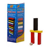 Деревянная игра Дженга цветная С543