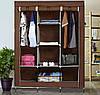 УЦЕНКА!  Тканевый шкаф для одежды и обуви Storage Wardrobe 88130 - 175х130х45 см, фото 9