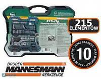 Набір інструментів Mannesmann M98430 (215 предметів) в кейсі (набір ключів KRAFT&DELE)