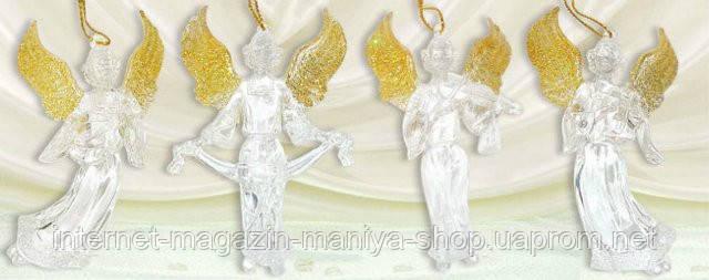 Набор елочных украшений (3) Ангел, 9см
