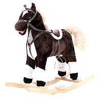 Музыкальная лошадка качалка W03