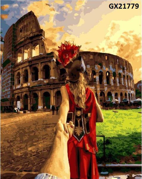 Картина по номерам «Слідуй за мною. Рим» GX21779