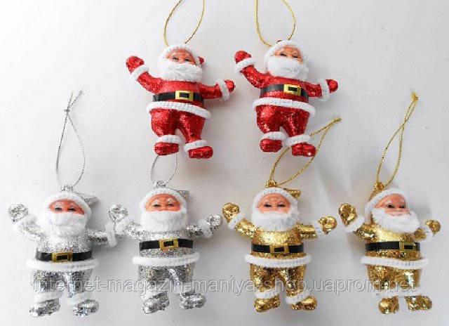 Набор елочных подвесок (2) Дед Мороз, 15 см