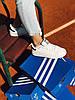 Кроссовки белые с черным задником Adidas Stan Smith Black Адідас Стен Смит
