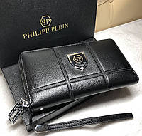 Мужской клатч кошелёк портмоне Philipp Plein кожа
