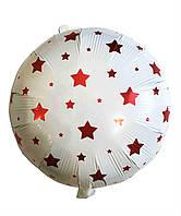 Фольгированный шар звезды красные, 45*45 см