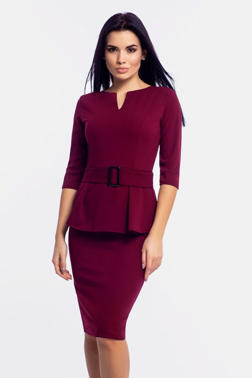 S, M, L, XL   Класичне трикотажне плаття Venera, марсала