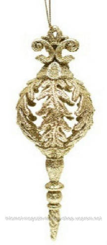 Елочное фигурное украшение,  6.5x17, цвет - золото
