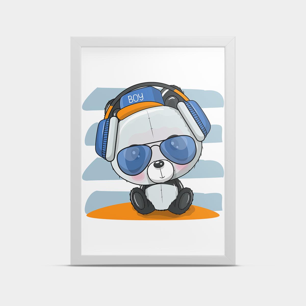 Постер на стену Панда диджей 20*30 см
