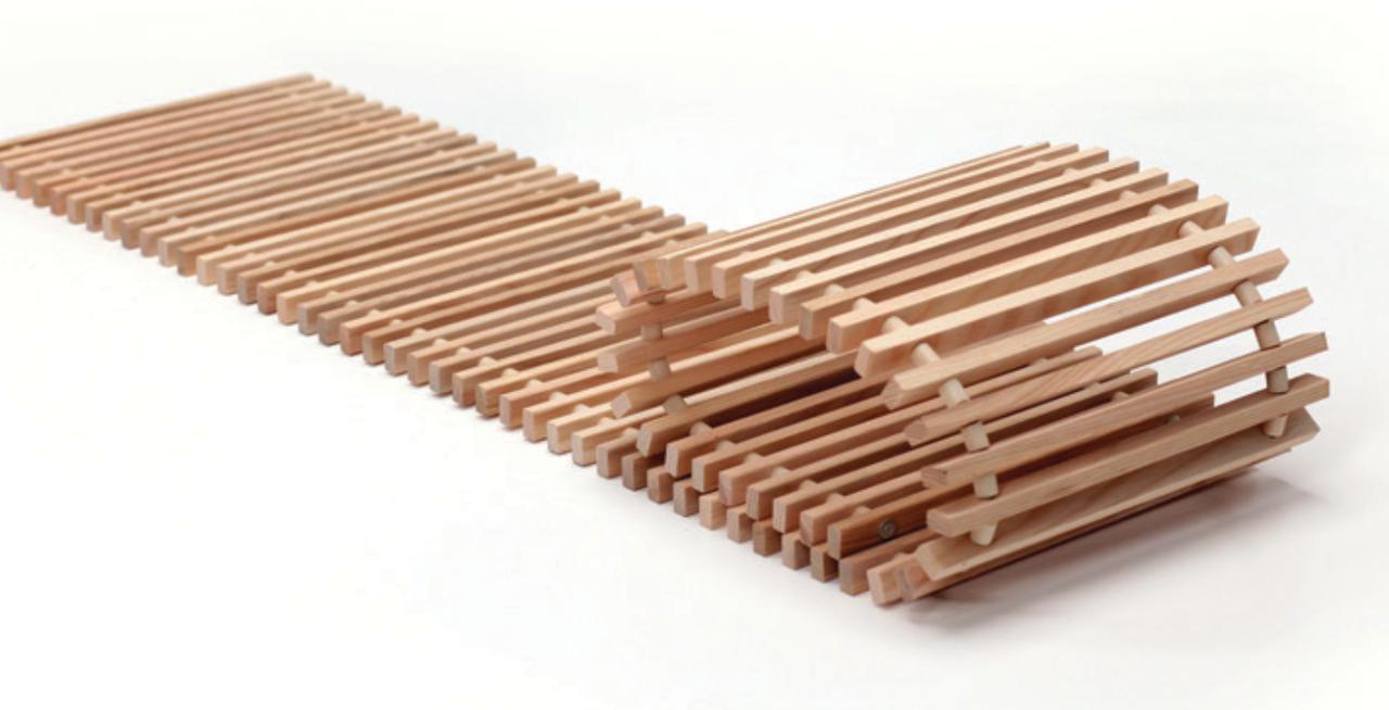 Декоративная деревянная решетка Polvax™ 2500х360