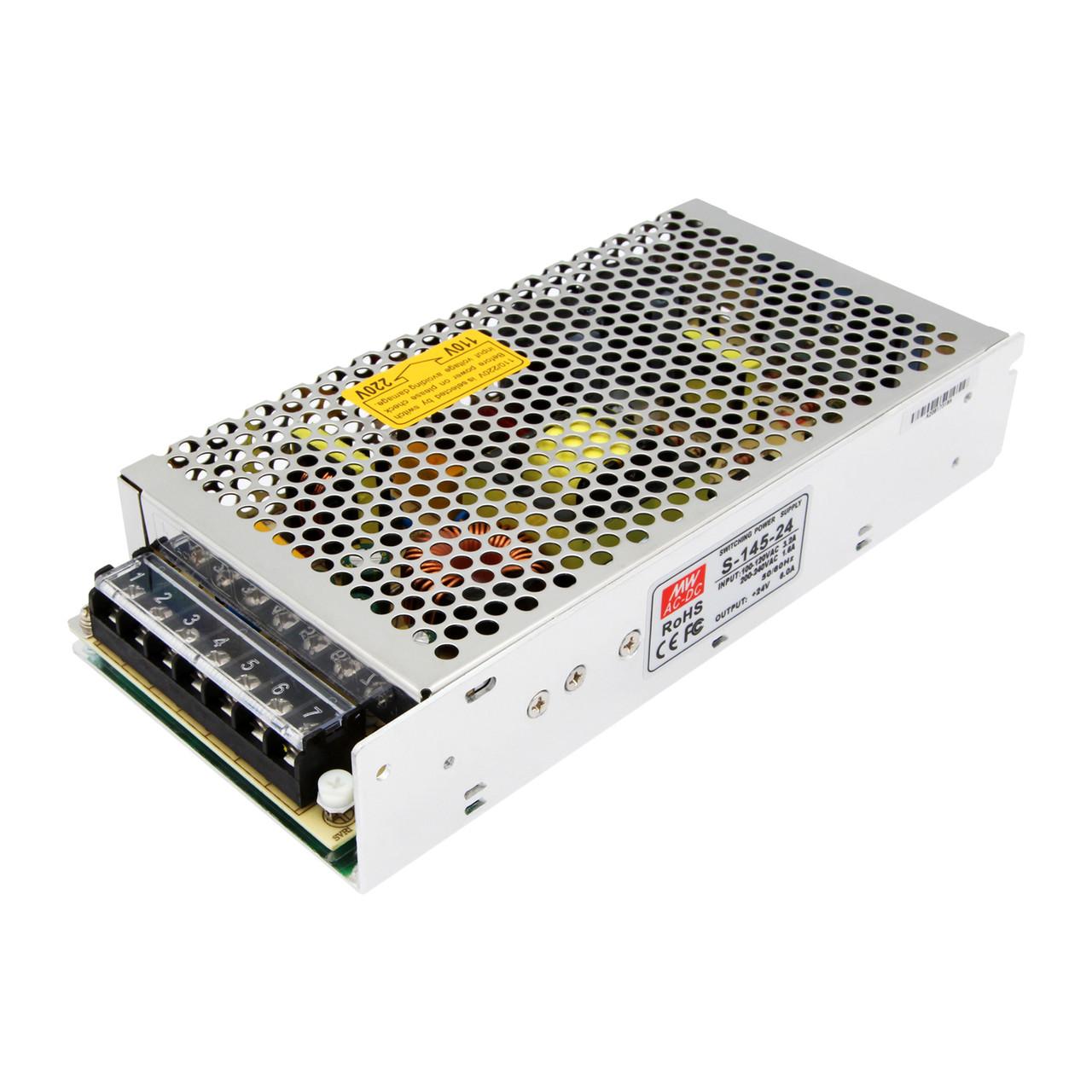 Импульсный блок питания S-145-24, 24V, 6A, 145W