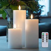 Електронні свічки з імітацією полум'я і пультом управління набір
