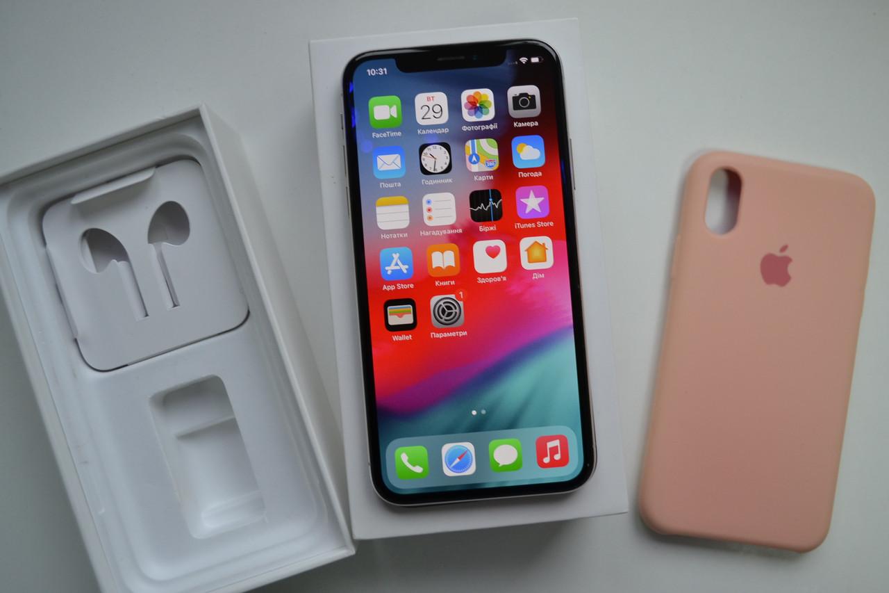 Apple Iphone X 256Gb Silver Unlocked Оригинал!