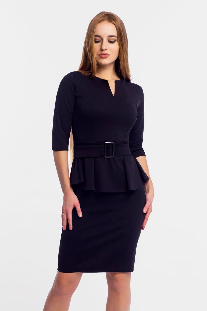 Классическое трикотажное платье Venera, черный