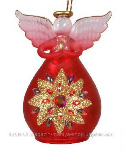 Елочная игрушка Ангел, 8см