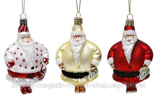 Елочное украшение Санта, 10см