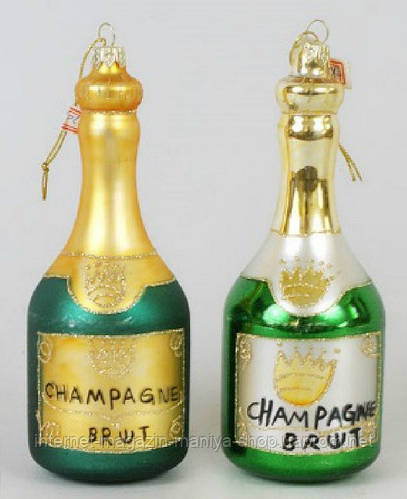 Елочное украшение Шампанское, 17см