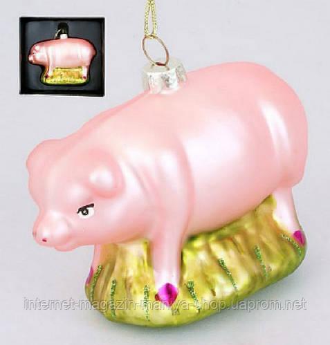 Елочная игрушка Свинка, 9см