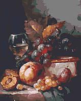 """Картина по номерах """"Вино і фрукти"""" (RB0091)"""