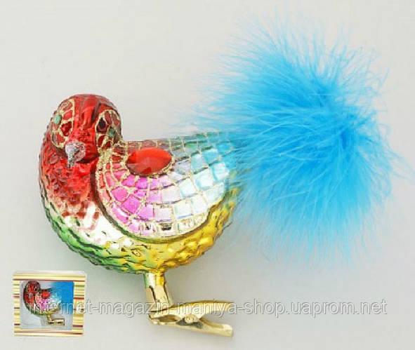 Елочная игрушка Птица, 10см