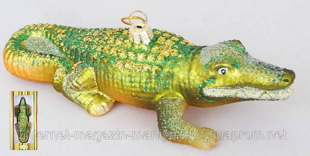 Елочная игрушка Крокоди, 15см