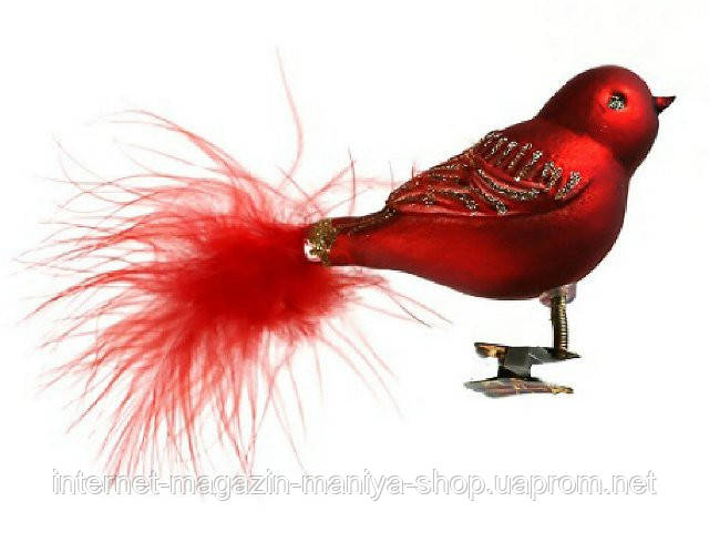 Набор елочных игрушек Птички (2 ), 8см