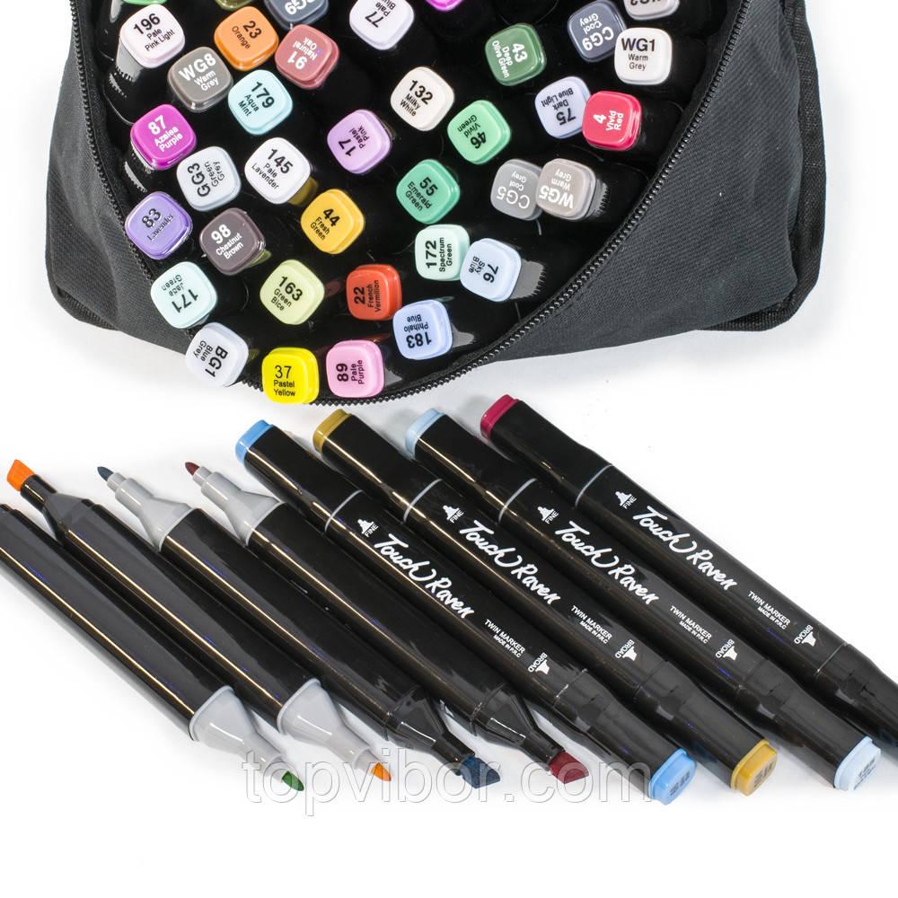 УЦІНКА! Скетч маркери для малювання (скетчинга) Touch (80 шт./уп.) набір маркерів для скетчів | художні