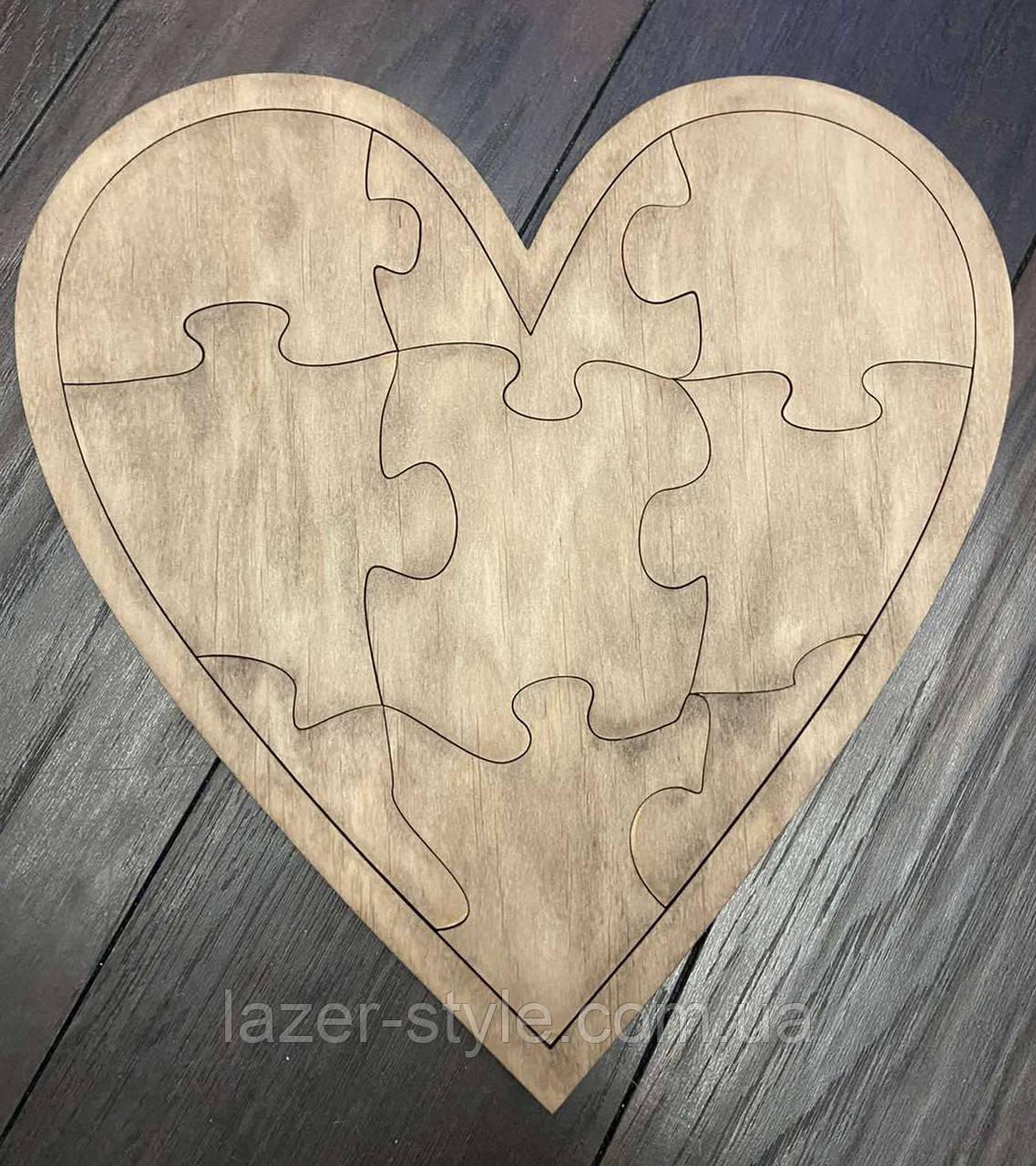 Пазлы деревянные  Сердечко
