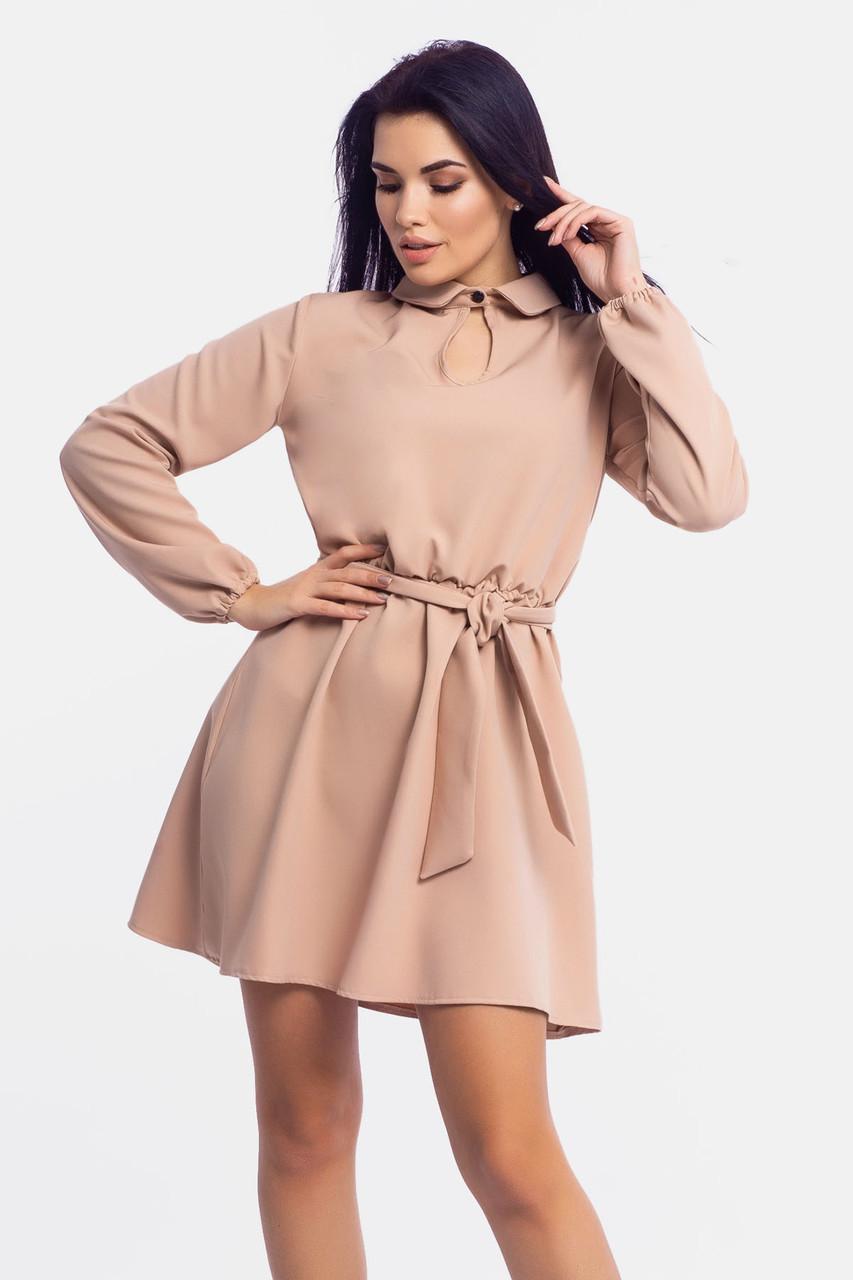 Короткое женское платье Limo, бежевый