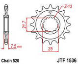Звезда стальная передняя JT Sprockets JT JTF1536.16, фото 2