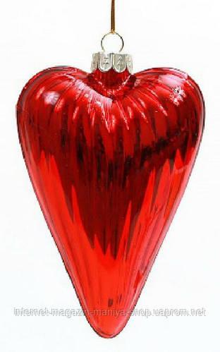 Елочное украшение Сердце, 12см
