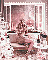 """Набір для розпису """"Новорічна ніч у Парижі"""" (RB0080)"""