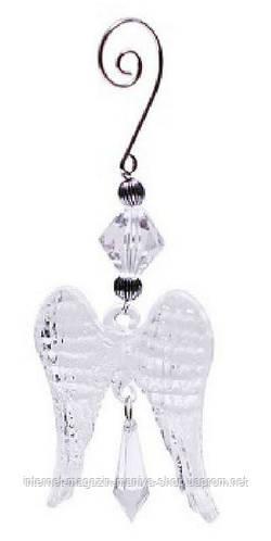 Набор елочных украшений 13,5см (2) прозрачные крылья