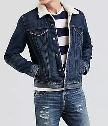 Зимняя джинсовая куртка Levis Trucker - Lucky Town (L)