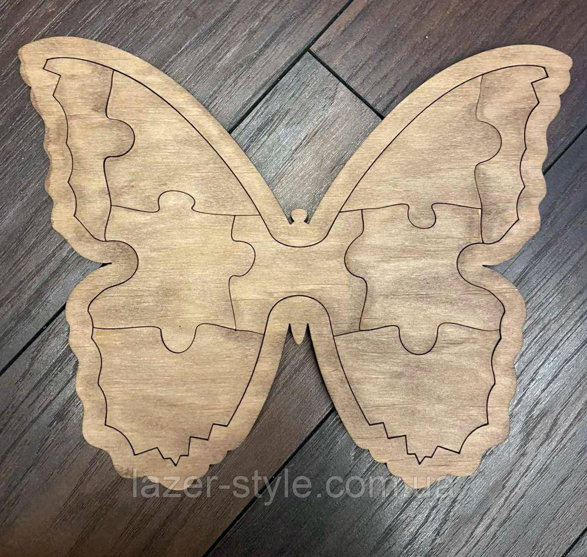 Пазлы деревянные  Бабочка