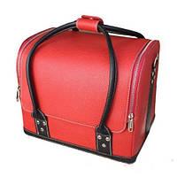 Бьюти-кейс 2700-1B (красный с черными ручками)