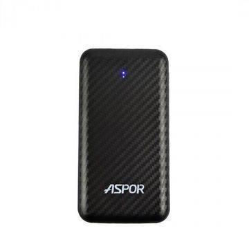 Power Bank Aspor- A335 8000mAh iQ (iPhone/micro input 2USB/2.4A+2.4A) карбон