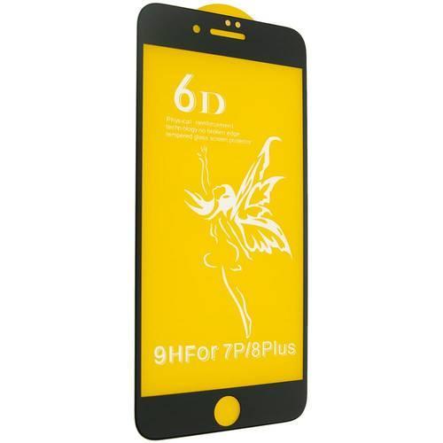 Захисне скло 6D для iPhone 7+/8+ - чорне