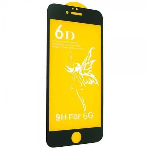 Захисне скло 6D для iPhone 6/6S - чорне