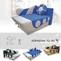 Кровать детская мягкая Кораблик ТМ Вика