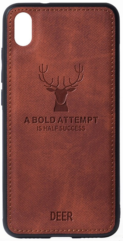 Чехол-накладка TOTO Deer Shell With Leather Effect Case Xiaomi Redmi 7A Brown #I/S