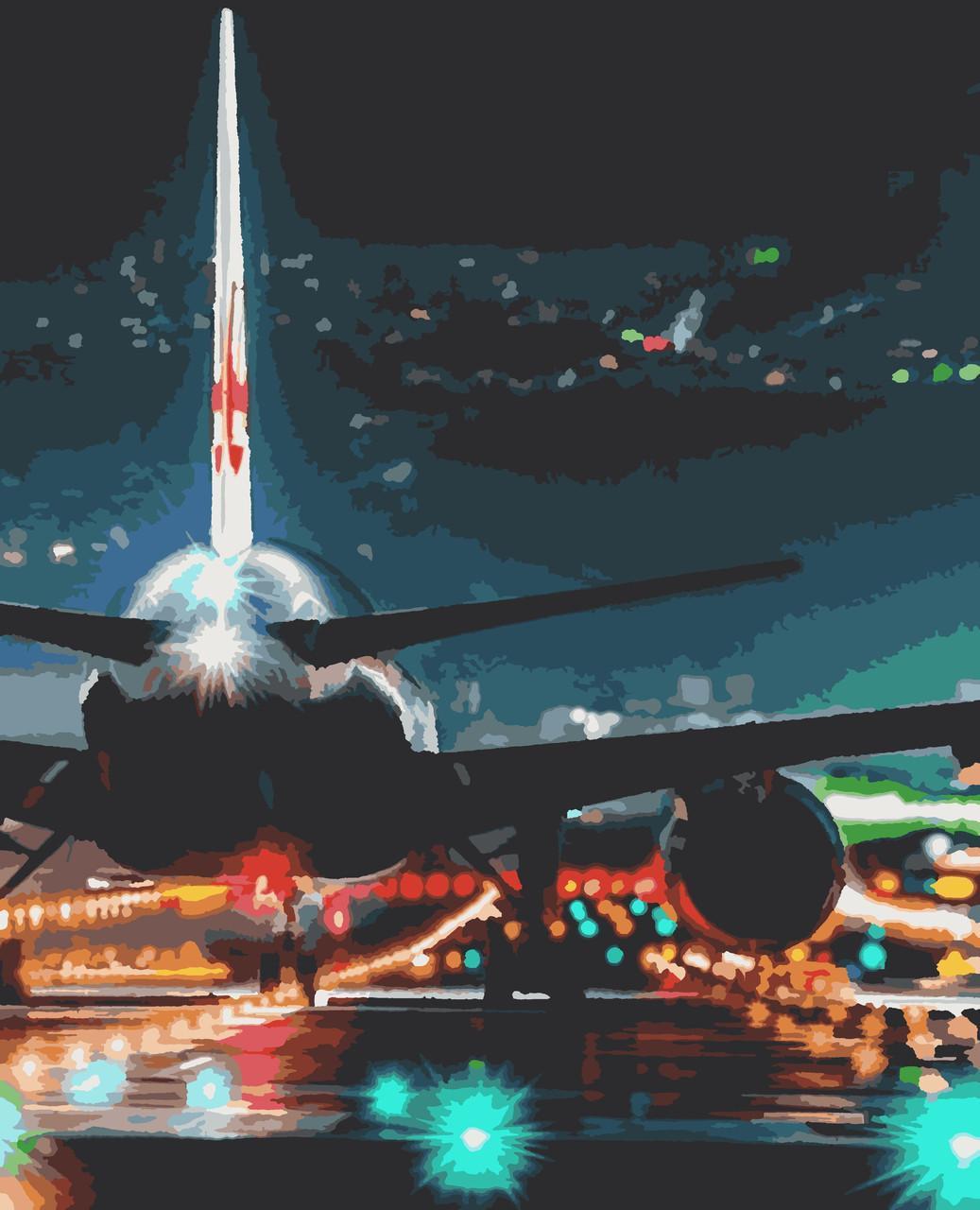 Картина рисование по номерам Літак PNX5425 Artissimo 50х60см розпис за номерами набір, фарби, пензлі, полотно