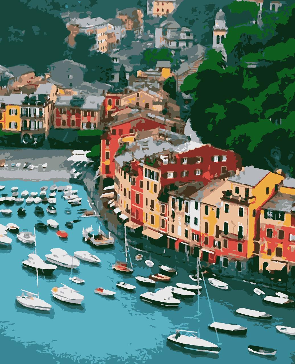 Картина рисование по номерам Портофіно PNX7709 Artissimo 50х60см розпис за номерами набір, фарби, пензлі,