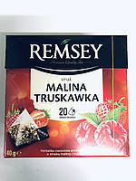 Фруктовый чай Remsey malina truskawka 20 пакетиков