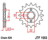 Звезда стальная передняя JT Sprockets JT JTF1553.14, фото 2