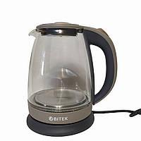 Чайник Электрический с подсветкой BITEK BT-3110 серый