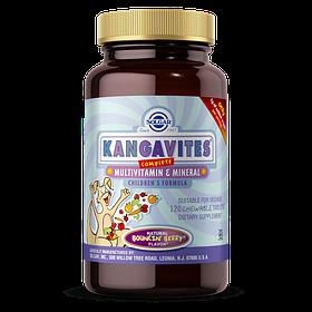 Вітаміни для дітей, Kangavites (Кангавитс), Смак Ягід, Solgar, 120 жувальних таблеток