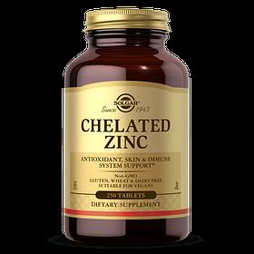 Цинк хелат Solgar Chelated Zinc (250 таб) солгар