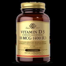 Витамин д3 Solgar Vitamin D3 400 IU (100 капс) солгар